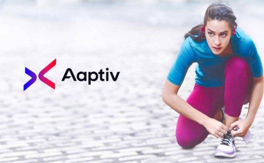 音频健身课程应用Aaptiv启用全新品牌LOGO